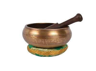 Bermoni® Tibetan Meditation Singing Bowl with Special Etching (B32)