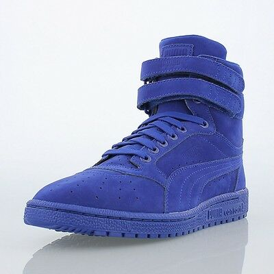4569522238d PUMA SKY II Hi Mono Suede High Top Sneakers Blue 361972 03 SZ US M ...