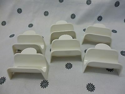 Tupperware Taco Holders Stands Set of 6 White NEW