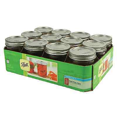 12-Pack 8 oz Ball Mason Jar Regular Mouse Glass Canning Jars with Lid & Cap Gift
