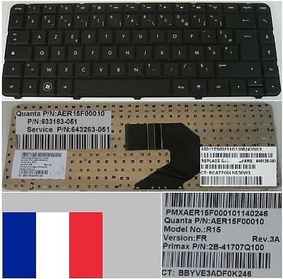 Clavier Azerty Fr HP Pavilion G4-1000 CQ43 AER15F00010 633183-051 643263-051