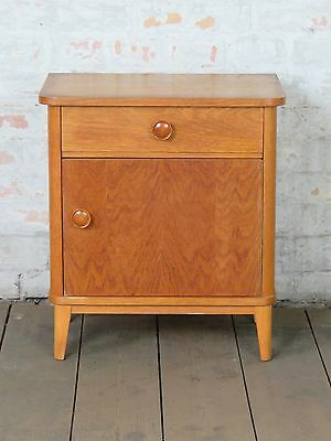 alter Nachtschrank Schrank Bed Side Table Cabinet Mid Century 60er 70er 60s 70s