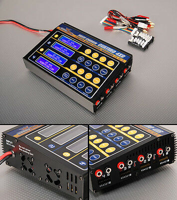 HOBBYKING QUATTRO BATTERY MULTI CHARGER 4X6S 4 CHARGERS IN 1 LiPo LiFe Po4 NiMH