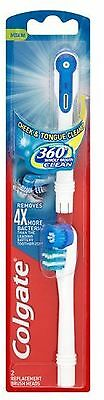 Colgate 360 Battery Toothbrush Replacement Heads, 2 Heads