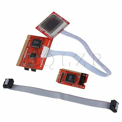 Red PTI8 Motherboard Diagnostic Tester Post Card With 2 Displays