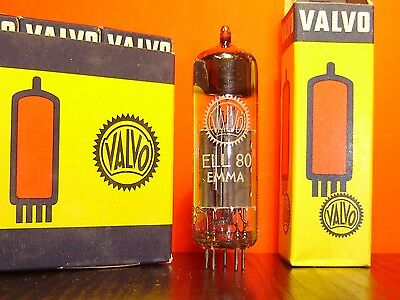 Ell80 6Hu8 Valvo O Getter Röhre Neu Ovp  Vacuum Tube New Old Stock In Box