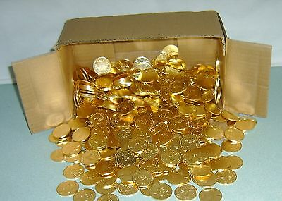 20 Awesome Golden 1 Dollar Size Slot Machine Tokens  == Beautiful Design !
