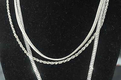 3 beautiful vintage sterling silver Necklace Chains