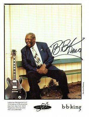 B. B. KING Autograph on 8x10 color photograph, nicely signed