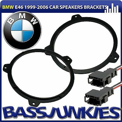 "BMW 3 Series E46 17cm 6.5"" Car Rear Shelf Car Speaker Brackets Rings & Wires Kit"