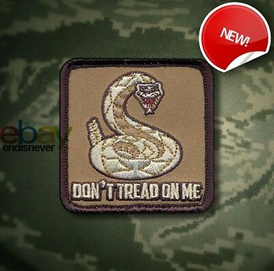 Don't Tread On Me Patch - velcro - NEW