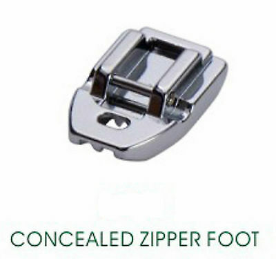 Domestic Sewing Machine Invisible Concealed Zip Zipper Foot Feet Brother Juk +++