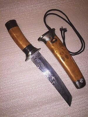 Boot Dagger Hunting Knife Eagle  Carved Sheath Embellished Blade