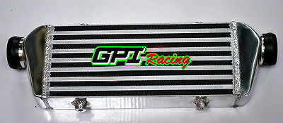 """FRONT MOUNT UNIVERSAL TURBO ALLOY INTERCOOLER 136MM x 330MM x65MM 2.2"""" in/outlet"""