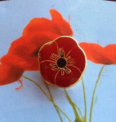 Remembrance Poppy Lapel Pin * Memorial Day * Remembrance Day
