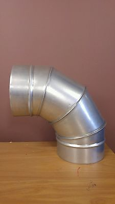 150mm 90 degree metal duct elbow - SPIRO -  cooling - heater flue etc
