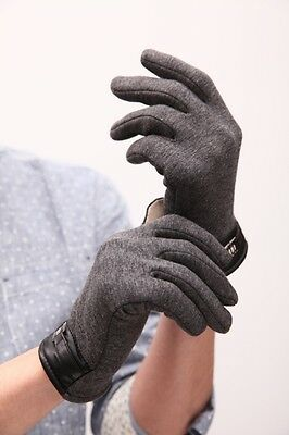 Mens Winter warm Full Finger Smartphone Touch Screen Cashmere Gloves Unusual