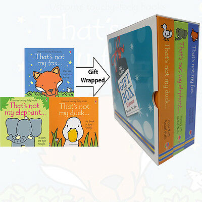That's Not My Fiona Watt Collection Duck,Fox 3 Books Set Gift Wrapped Slipcase