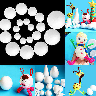 DIY 10Pcs 20mm-150mm Modelling Polystyrene Styrofoam Foam Ball Creative decor