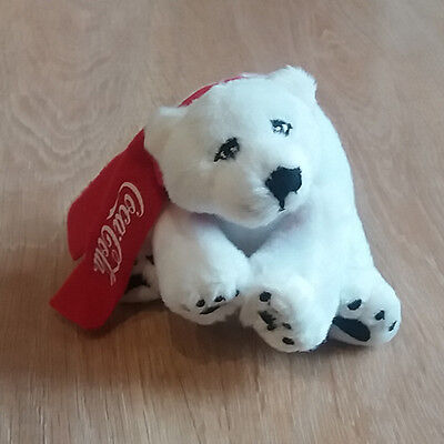 Coca Cola Coke Cute Plush Stuff Polar Bear Advertising Toy Gift Rare