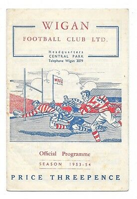 Wigan v Barrow, 1953/54 - Northern League Match Programme.
