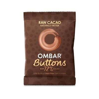 Ombar Raw 72% Chocolate Buttons 25g