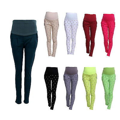 Pregnant Women Abdominal Maternity Pants Belly Leggings Trousers L3