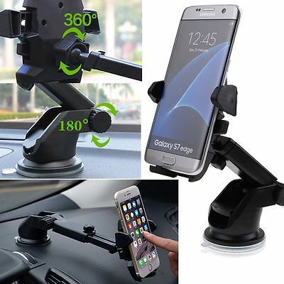 Universal Windshield Mount Car Holder Cradle For GPS iPhone 7 Plus 6S SE Samsung