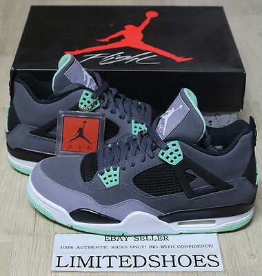1f686ae28626bd NIKE AIR JORDAN 4 IV RETRO GREEN GLOW DARK GREY 308497-033 US 10 cement