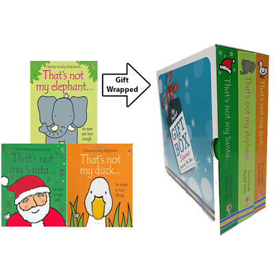 Thats Not My Elephant,Duck Fiona Watt 3 Books Collection Gift Wrapped Slipcase