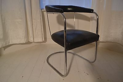 Stunning Vintage Art Deco Bauhaus Tubular Chrome Pel Chair