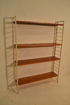 Stunning Vintage Ladderax Teak & Metal Storage Bookcase Display System