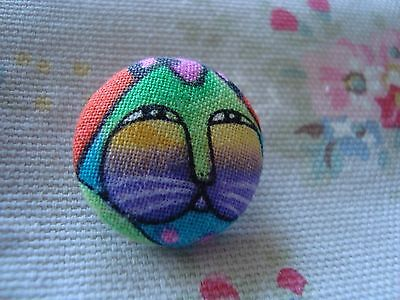 Material Cat Button - Mix Colours (3)