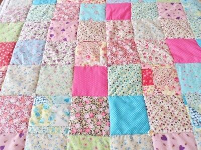 """Patchwork Quilting Squares Bundle CHARM PACK 20 x 5"""" Ditsy Fabrics Quilt Blanket"""