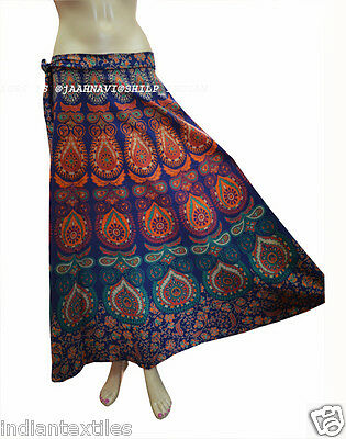 99677907cf Ethnic Cotton Indian Women Floral Rapron Printed Long Skirt Wrap Around  Skirt