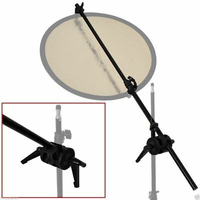 Phot-R Double Dual Clamp Studio Reflector Holder Boom Arm Grip Photo Light Stand