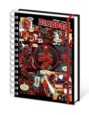 Here Comes Deadpool Notebook Notepad Journal Marvel Comics Book Strip Official