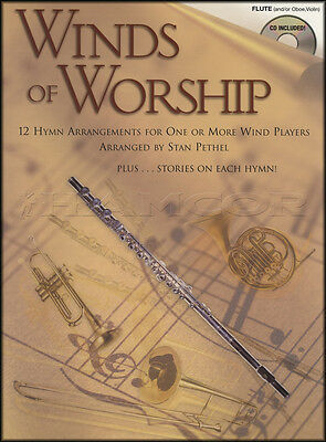 Winds of Worship for Flute Oboe or Violin Sheet Music Book with CD Hymns Songs