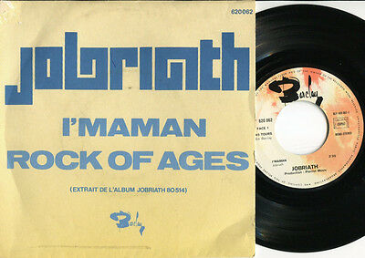 JOBRIATH - I'maman / Rock Of Ages 45 UK 1974 GLAM ROCK PROTO PUNK 1974 French PS