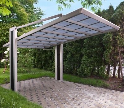 Ximax Carport My Port Typ 150 Edelstahl-Look L 5,01 m x B 2,74 m x H 2,72 m TOP