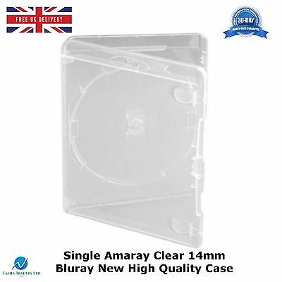 Single Clear Amaray 14mm Case Spine Bluray High Quality New Replacement Cover