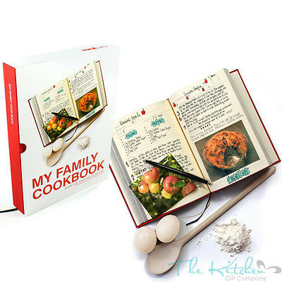 My Family Cookbook Blank Cook Book to Fill in Your Own Recipe Journal, Chef Gift