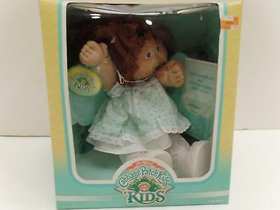 Coleco 3900 Cabbage Patch Kids Doll Iris France'87 Girl Braces Vtg New Brown