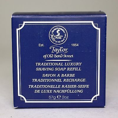 Traditional Luxury Hard Shaving Soap Refill 57g, Taylor of Old Bond St