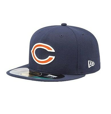 Chicago Bears NFL On Field Fitted Team Baseball Cap By New Era Navy/Orange