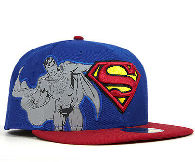 Superman Reflectique Official 59Fifty New Era Fitted Baseball Cap Size 7 3/8