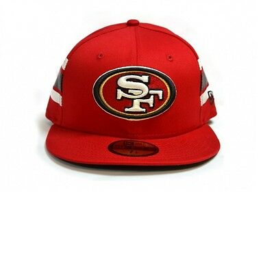 San Francisco 49ers NFL 59Fifty Stripe Fitted Baseball Cap By New Era Size 7 1/4