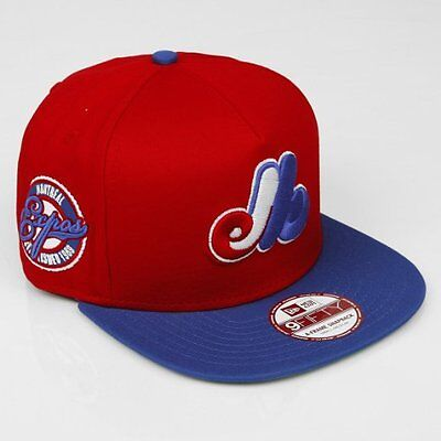 New Era Montreal Expos 9FIFTY Snapback MLB Baseball Cap Red Size S-M