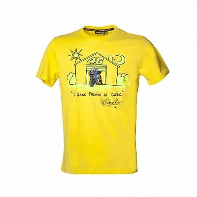 Valentino Rossi Mens Official MotoGP T-Shirt Yellow Size UK XXL