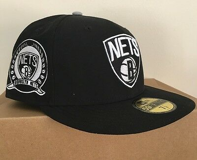 Brooklyn Nets NBA 59Fifty Patched Team Fitted Team Cap By New Era Size 7 1/8